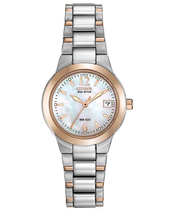 Citizen Eco-Drive Women's Chandler Two-Tone Stainless Steel Bracelet Watch 26mm
