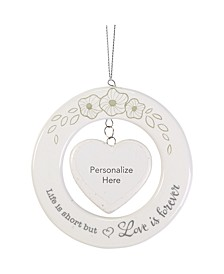 Precious Moments Life Is Short But Love Is Forever Ceramic Memorial Ornament