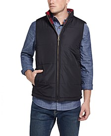 Men's Reversible Quilted-To-Flannel Vest