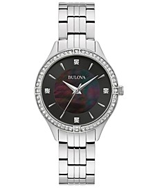 Women's Crystal Stainless Steel Bracelet Watch 32mm, Created For Macy's