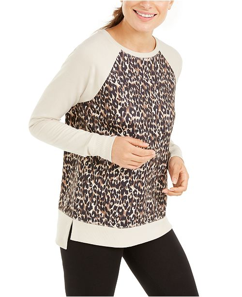 Ideology Leopard-Print Sweatshirt, Created for Macy's