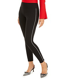 INC Shine Embellished Tuxedo Leggings, Created For Macy's