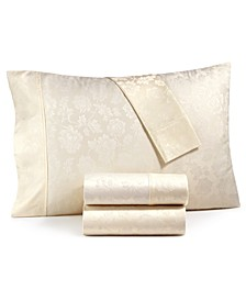 CLOSEOUT! 1000-Thread Count 4-Pc. Queen Floral Jacquard Sateen Sheet Set