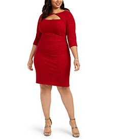 Plus Size Cutout Sheath Dress