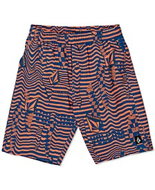 Toddler & Little Boys Logo Shifter Volley Printed Swim Trunks