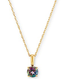"Mystic Topaz 16"" Pendant Necklace (1/2 ct. t.w.) in 14k Gold"