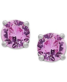 Lab-Created Pink Sapphire Stud Earrings (1-1/3 ct. t.w.) in 14k White Gold