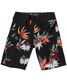 Toddler & Little Boys Verano Stone Printed Swim Trunks