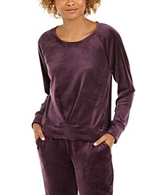 Pleated Velour Sweatshirt, Created for Macy's