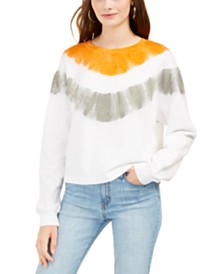 Rebellious One Juniors' Tie-Dyed Sweatshirt