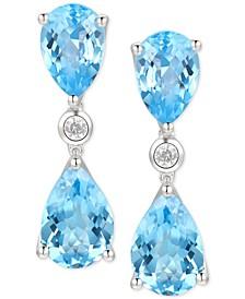 Amethyst (5-1/3 ct. t.w.) & Diamond (1/20 ct. t.w.) Drop Earrings in 14k Rose Gold (Also in Mystic Topaz & Blue Topaz)