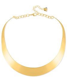 "Robert Lee Morris Soho 14"" Necklace, Half-Moon Collar Necklace"