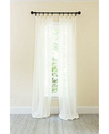 La Rosa Metallic Semi Sheer Rod Pocket Curtain Collection