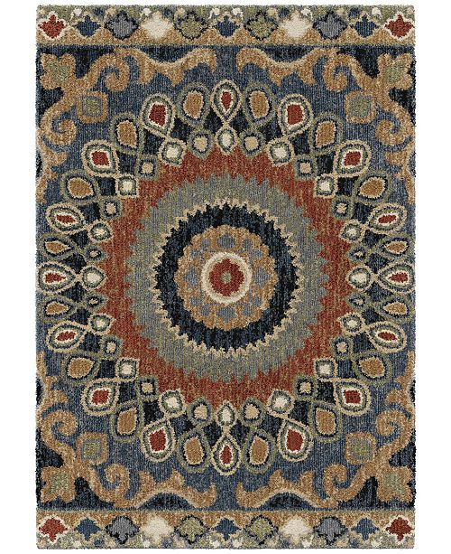 Palmetto Living Next Generation Indo China Multi 7.10' x 10.10' Area Rug