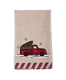 "Christmas Truck Christmas Tea Towel, 17"" x 27"""