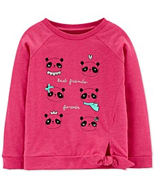 Toddler Girls Cotton Panda Besties Top