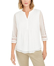 Solid Knit Pintuck Top, Created for Macy's