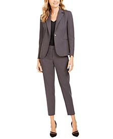 Single-Button Blazer & Ankle Pants