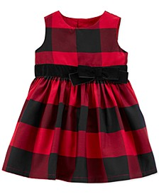 Baby Girls Sateen Buffalo Check Dress