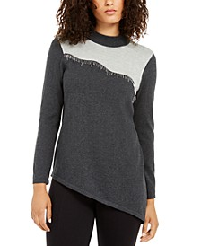 Asymmetrical Beaded Sweater, Created For Macy's