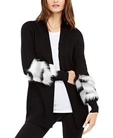 Faux-Fur-Trim Cardigan, Created For Macy's