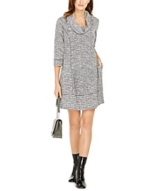 Petite Cowl-Neck Sweater Dress