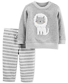Baby Boys & Girls 2-Pc. Lion Sweatshirt & Jogger Pants French Terry Set