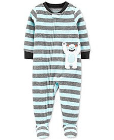 Toddler Boys 1-Pc. Abominable Snowman Fleece Footie Pajamas