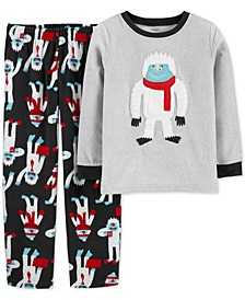 Little & Big Boys 2-Pc. Abominable Snowman Pajamas Set