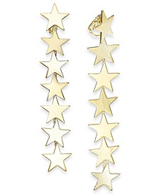 Gold-Tone Star Clip-On Linear Drop Earrings, Created For Macy's