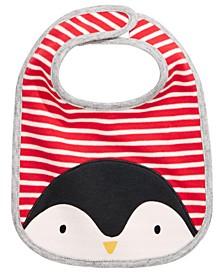 Baby Boys Cotton Reversible Penguin Bib, Created For Macy's