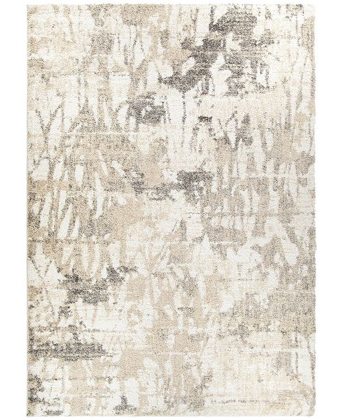 """Palmetto Living ORI408522 Mystical Abstract Canopy Natural 6'7"""" x 9'6""""  Area Rug"""