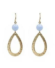 Stephanie Kantis Drop Stone Earring in Blue Chalceondy