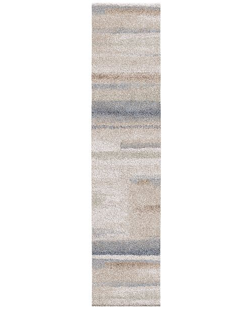 "Palmetto Living ORI409505 Mystical Modern Motion Muted Blue 2'3"" x 8' Runner Rug"