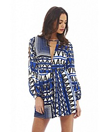 Women's Geometric Printed Romper