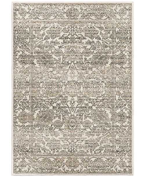 "Palmetto Living ORI423891 Riverstone Persian Tonal Light Gray 6'7"" x 9'6""  Area Rug"