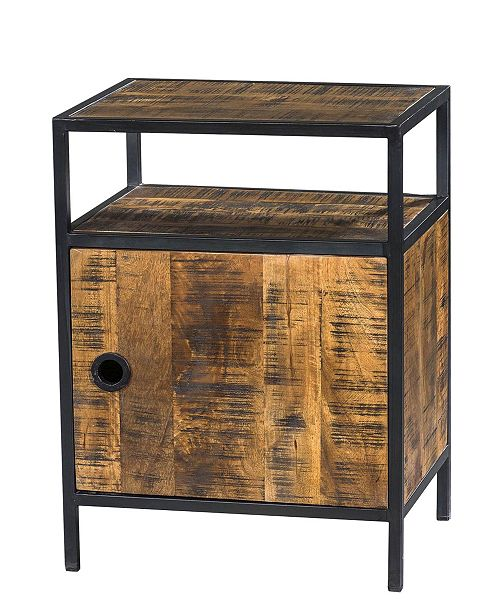 Villa2 VILLA 2 Milano Single Cabinet Solid Wood Iron Side Table