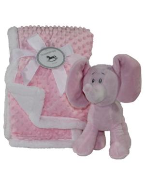 3 Stories Trading Popcorn Plush Blanket and Plush Elephant Set