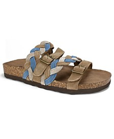White Mountain Holland Braided Footbed Slip-on Sandals
