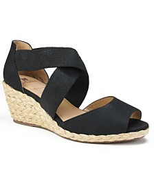 White Mountain Hudlin Espadrille Wedge Sandals