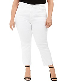 Trendy Plus Size High-Rise Straight-Leg Jeans