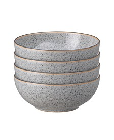 Studio Craft Grey 4 Piece Cereal Bowl Set