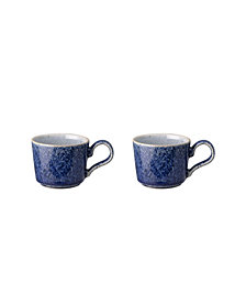 Denby Studio Blue Brew Espresso Cup Set of 2