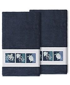 100% Turkish Cotton Ava 2-Pc. Embellished Bath Towel Set