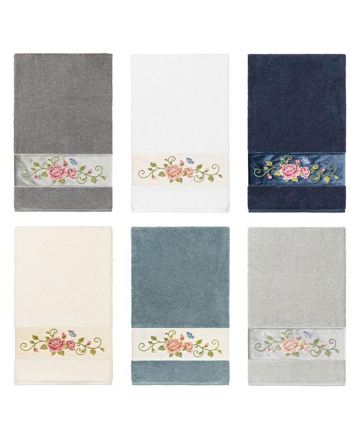 Linum Home - 100% Turkish Cotton Rebecca Embellished Bath Towel