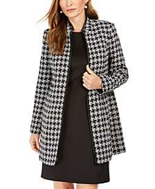 Petite Houndstooth Printed Topper Jacket