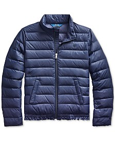 Polo Ralph Lauren Big Girls Quilted Down Jacket, Created For Macy's