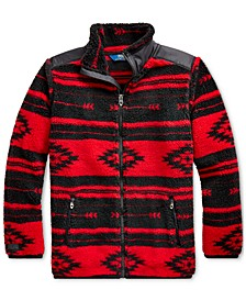 Big Girls Geometric-Print Fleece Jacket, Created For Macy's