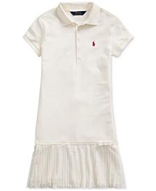 Big Girls Pleated Mesh Polo Dress
