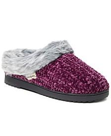 Dearfoams Women's Chenille Rib Knit Slipper Clog, Online Only